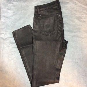 J Brand leather type jean super skinny